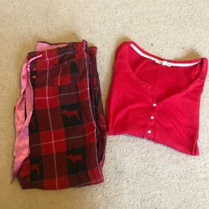 Red matching pajama set - Victoria's Secret